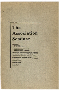 The Association Seminar (vol. 25 no. 1), October 1916