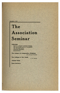 The Association Seminar (vol. 25 no. 3), December 1916
