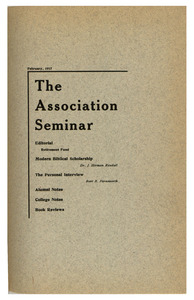 The Association Seminar (vol. 25 no. 5), February 1917