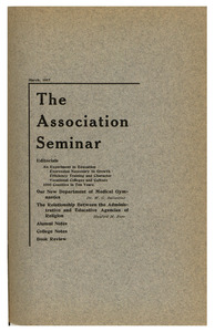 The Association Seminar (vol. 25 no. 6), March 1917