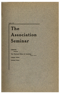 The Association Seminar (vol. 25 no. 7), April 1917