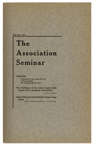 The Association Seminar (vol. 25 no. 8), May-June 1917