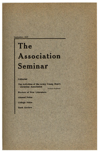 The Association Seminar (vol. 25 no. 9), September 1917