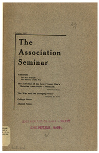 The Association Seminar (vol. 26 no. 1), October 1917
