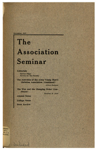 The Association Seminar (vol. 26 no. 2), November 1917