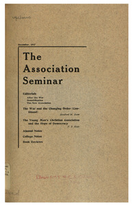 The Association Seminar (vol. 26 no. 3), December 1917