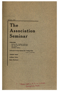 The Association Seminar (vol. 26 no. 5), February 1918