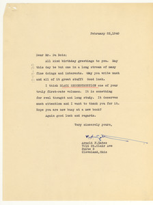 Letter from Arnold F. Gates to W. E. B. Du Bois