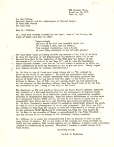 Letter from Muriel I. Symington to N.A.A.C.P.