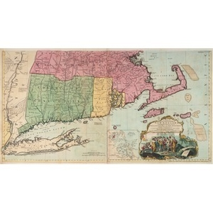 A Map of the Most Inhabited Part of New England... [bottom portion]