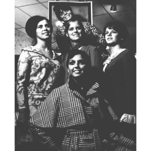 The 1968 Homecoming Queen candidates
