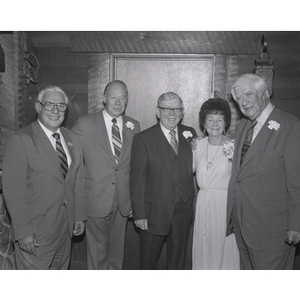 """Congressman Thomas Phillip """"Tip"""" O'Neill Jr. and others at the Northeastern University event held in his honor"""