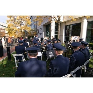 The Air National Guard Band of the Northeast at the Veterans Memorial dedication ceremony