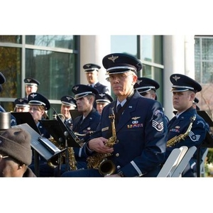 Air National Guard Band of the Northeast at the Veterans Memorial dedication ceremony