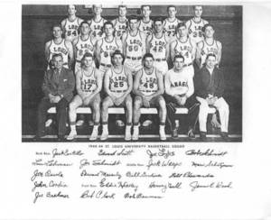 Copy of a picture of the 1948-1949 St. Louis University Basketball Team