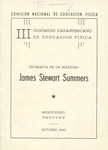 Biography of a Professor: James Stewart Summers (October 1950)