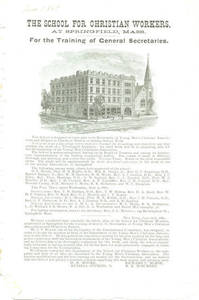 A flyer of the School for Christian Workers, June 1885
