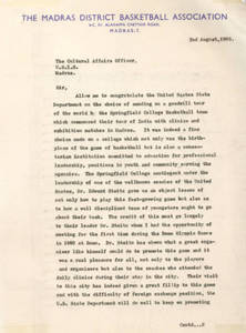 1965 Far East Tour, Letter from Madras
