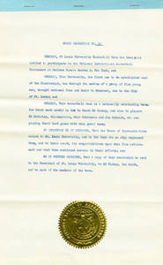 State of Missouri House Resolution No. 52 for NIT Championship by St. Louis University Basketball team, 1949