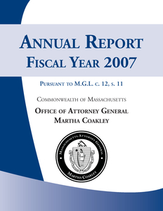 Annual Report, Fiscal Year 2007