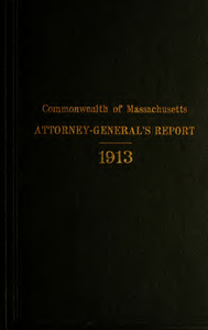 Report of the attorney general for the year ending January 21, 1914