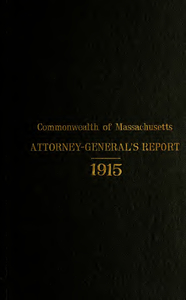 Report of the attorney general for the year ending January 19, 1916