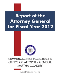 Report of the Attorney General for Fiscal Year 2012