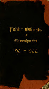 Public officials of Massachusetts (1921-1922)
