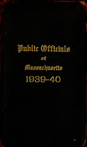 Public officials of Massachusetts (1939-1940)