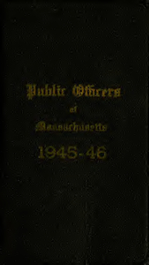 Public officers of the Commonwealth of Massachusetts (1945-1946)