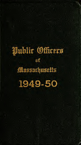 Public officers of the Commonwealth of Massachusetts (1949-1950)