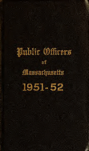 Public officers of the Commonwealth of Massachusetts (1951-1952)