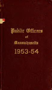 Public officers of the Commonwealth of Massachusetts (1953-1954)