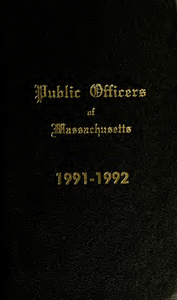 Public officers of the Commonwealth of Massachusetts (1991-1992)