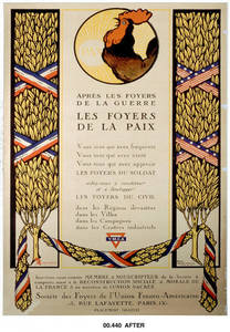 World War I Poster - Apres Les Foyers de la Guerre…(After the hearths of the war…)
