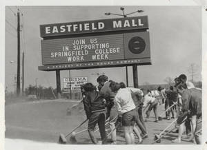 Sweeping at the Eastfield Mall (April 13, 1969)