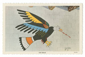 Wo Peen's Painting of the Eagle (Postcard)