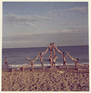 Pyramid at the beach (Summer 1966)