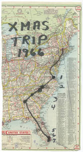 Exhibition Christmas Travel Map (Winter 1966)