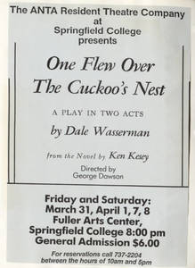 """One Flew Over The Cuckoo's Nest"" Flyer, 1989"
