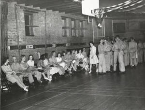 Students at the Graduation Dance (June 1943)