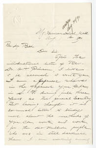 Letter from Ishikawa to Reed (August 1, 1890)