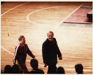 Coach Wolcott and Art Linkletter (1979)