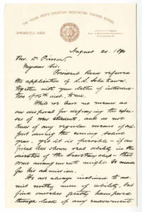 Letter from Bowne (August 20, 1890)