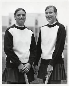 Field hockey captains-Sherry Sanborn and Denise Desaultes (1976)