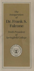 Dr. Frank S. Falcone Inauguration Brochure (November 1985)