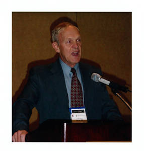 David Halbe Brown speaking at YMCA Hall of Fame induction ceremony (2003)