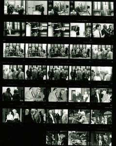 Contact sheet of photographs taken at YMCA induction ceremony (1989)