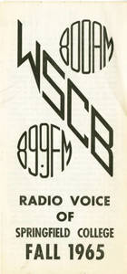 WSCB Radio Voice of Springfield College (Fall 1965)