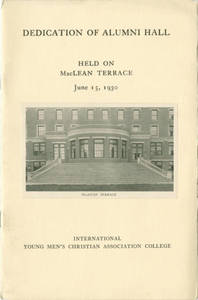 Alumni Hall Dedication Program, June 15, 1930